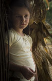 Countryside girl in corn Royalty Free Stock Photos