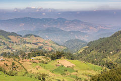 Countryside of Guatemala and the highlands landscape Royalty Free Stock Photo