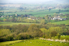 Countryside hills Stock Photos
