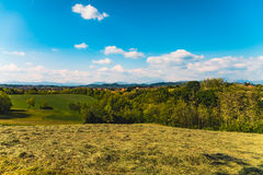 Countryside and hills in a sunny day Royalty Free Stock Image