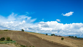 Countryside in the hills of Tuscany Stock Images