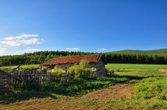 A countryside house. In beautiful nature Stock Photography