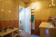 Countryside house comfortable interior in alsacien style Stock Photos