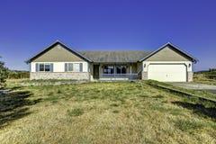 Countryside house exterior with landscape. Washington real estat Royalty Free Stock Photo