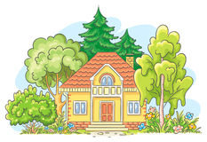 Countryside house Stock Photography
