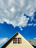 Countryside house roof against the sky Royalty Free Stock Photography