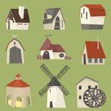 Countryside house set Stock Image