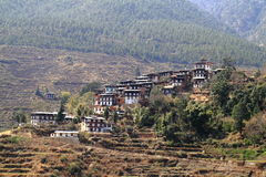 Countryside houses, Bhutan Stock Image