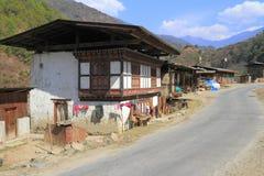 Countryside houses, Bhutan Stock Image