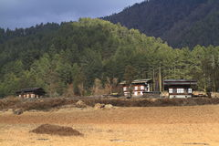 Countryside houses, Bhutan Stock Photo