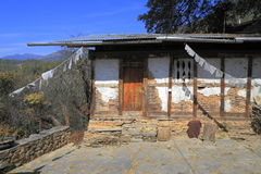 Countryside houses, Bhutan Stock Photo