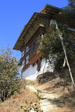 Countryside houses, Bhutan Royalty Free Stock Photos