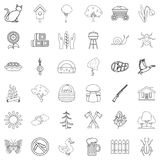 Countryside icons set, outline style. Countryside icons set. Outline style of 36 countryside vector icons for web isolated on white background Stock Image