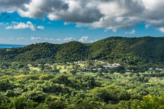 Countryside on the island of St. Croix Stock Photography