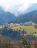 Countryside of Škofja Loka, Slovenia in Winter Royalty Free Stock Photo