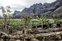 Countryside Kong Lor Cave, Laos. Royalty Free Stock Photography