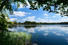Countryside lake Royalty Free Stock Images