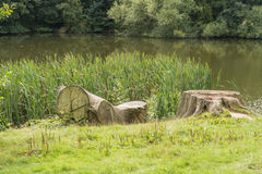 Countryside lake near the weald of Kent Royalty Free Stock Photography