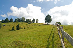 Countryside landscape. Hill landscape; country side cottage royalty free stock photography