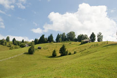 Countryside landscape. Hill landscape; country side cottage royalty free stock photos