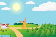 Countryside landscape. Stock Images
