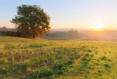 Countryside landscape at beautiful sunrise Royalty Free Stock Images