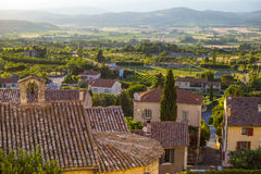 Countryside landscape in Bonnieux in Provence France Royalty Free Stock Photography