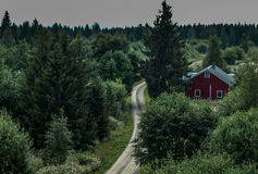 Countryside landscape. At Jyvaskyla, Finland Stock Photos
