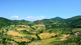 Countryside landscape. Countryside mountain landscape in summer Stock Photo