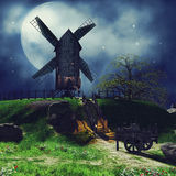 Countryside landscape at night Stock Photography