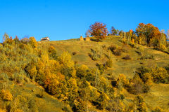 Countryside landscape in a romanian villlage Stock Photo