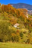 Countryside landscape in a romanian villlage Stock Photos