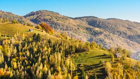 Countryside landscape in a romanian villlage royalty free stock images