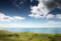 Countryside landscape shot in the uk. Landscape shot taken in dorset england looking out towards the sea Stock Photo