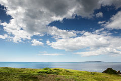 Countryside landscape shot in the uk. Landscape shot taken in dorset england looking out towards the sea Stock Images