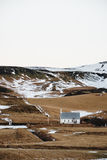 Countryside landscape, with small church stand alone on hills in Iceland. Countryside landscape,with small church stand alone on hills in Iceland Royalty Free Stock Image