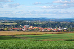 Countryside landscape with small town Stock Image