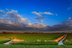Countryside landscape at sunset Royalty Free Stock Image