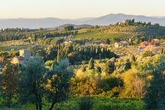 Countryside landscape, Vineyard in Chianti region. Tuscany. Italy. Countryside landscape, Vineyard in Chianti region in Tuscany. Italy royalty free stock photos