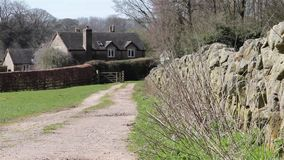 Countryside Lane to house - Natural Wild English Backgrounds stock video
