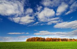 Countryside by  later autumn. Stock Photo