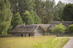 Countryside with a local village buildings, Lithuania Stock Photography