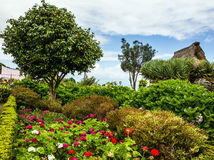 Countryside of Madeira island, Portugal, rural landscape, village Royalty Free Stock Image
