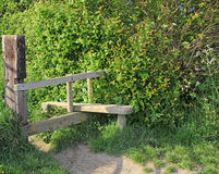 Countryside meadow stile Stock Photography