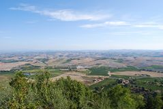 Countryside from Montalcino Royalty Free Stock Photos
