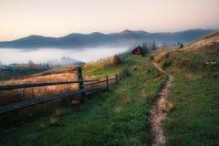 Countryside mountain view Stock Photos