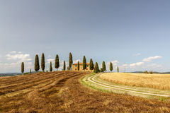 Countryside near Pienza, Tuscany, Italy Stock Photos