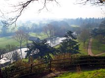 Countryside near Warwick castle in the UK Royalty Free Stock Photos