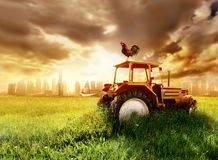 Free Countryside Next To A Big City Stock Images - 5198864