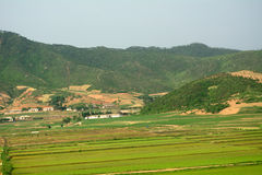Countryside, North-Korea Royalty Free Stock Images